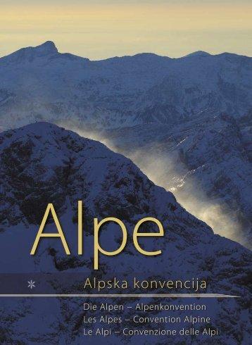 Alpska konvencija - Ministrstvo za infrastrukturo in prostor