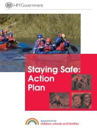 Staying Safe: Action Plan - Injury Observatory for Britain and Ireland