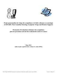 Protocoles d'évaluation à distance des symptômes pour les ...
