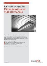 Lista di controllo L'illuminazione al videoterminale - Sicurweb