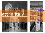 pitt in italy - French & Italian Languages and Literatures