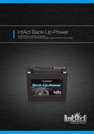 intAct Back-Up-Power - Accu-Profi
