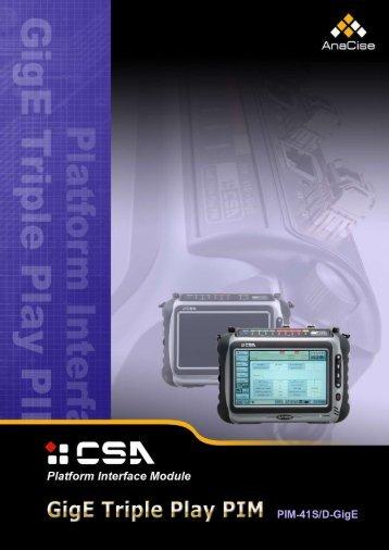 CSA GigE Module Brochure (PDF) - PDS Test