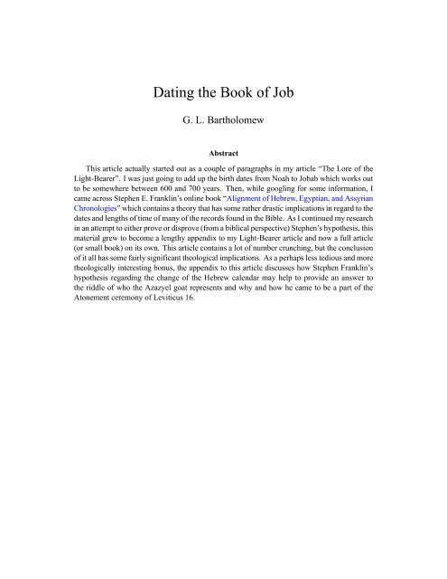 dating research jobs