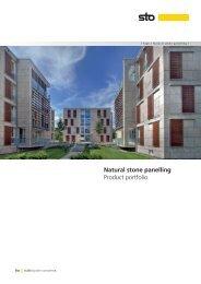 Natural stone panelling Product portfolio