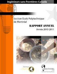 Rapport annuel 2010-2011 - ISF-Poly