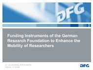 Funding Instruments of the German Research Foundation to ...