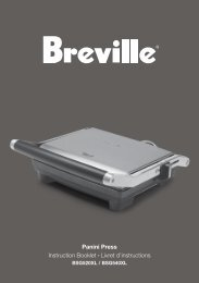 Panini Press Instruction Booklet Livret d'instructions - Breville