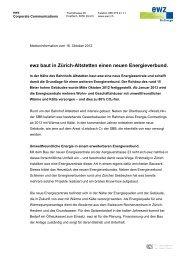 ewz baut in Zürich-Altstetten einen neuen ... - Stadt Zürich