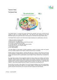 Teachers' Notes The Eatwell Plate - Food a fact of life