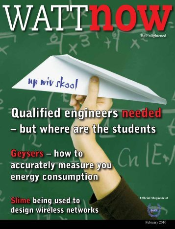 download a PDF of the full February 2010 issue - Watt Now Magazine