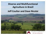 Diverse and Multifunctional Agriculture in Brazil - University of ...