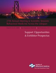 Support Opportunities & Exhibitor Prospectus - Society of Behavioral ...