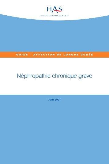 Guide - Affection de longue durée - Néphropathie chronique grave