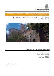 1 COMUNE DI REGGIO EMILIA Riqualificazione architettonica e ...