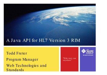 A Java API for HL7 Version 3 RIM