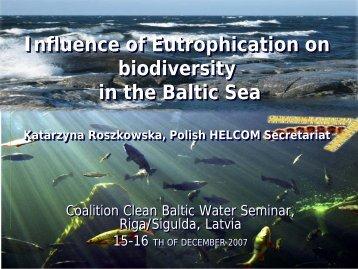 Katarzyna Roszkowska - Coalition Clean Baltic