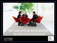 Management par les processus – les éléments structurants