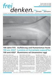 Jubiläumsausgabe - Freidenker-Vereinigung der Schweiz
