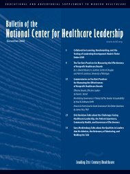 2006 - National Center for Healthcare Leadership
