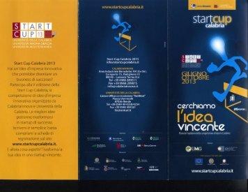 Brochure Start Cup Calabria 2013