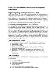 York Safeguarding Children Peer Review