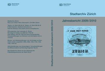 Zweijahresbericht 2009 und 2010 (PDF, 272 Seiten, 3 - Stadt Zürich