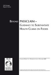 Beyond PASSCLAIM – - International Life Sciences Institute