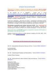 ATENÇÃO COM AS INSTRUÇÕES Calendário de ... - IGEO- Unicamp