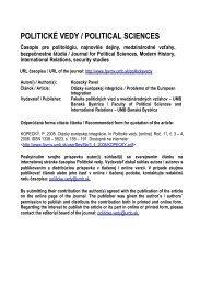 Otázky európskej integrácie - Politické vedy