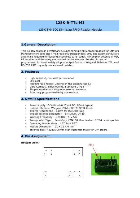 125K-R-TTL-M1 - RFID Shop