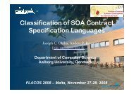 Classification of SOA Contract Specification Languages