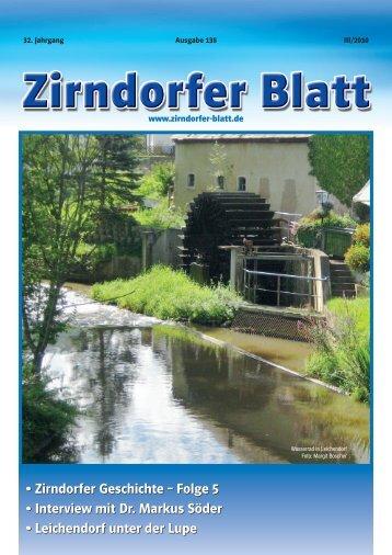 Zirndorfer Blatt Nr. 138 - Das Zirndorfer Blatt