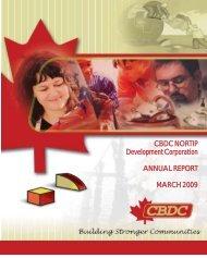 2009 Annual Report - cbdc nortip