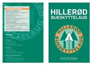 Infofolder - Hillerød Bueskyttelaug