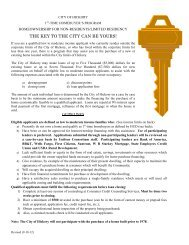 First Time Homebuyers Program Information for Non ... - City of Hickory