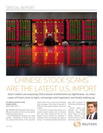 chinese stock scams are the latest u.s. import - Thomson Reuters