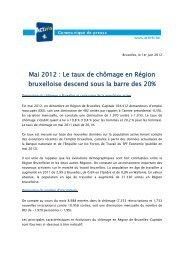 Mai 2012 : Le taux de chômage en Région bruxelloise ... - Actiris