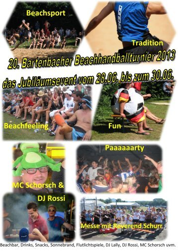 Beachsport Tradition Beachfeeling Fun Paaaaaarty MC Schorsch ...