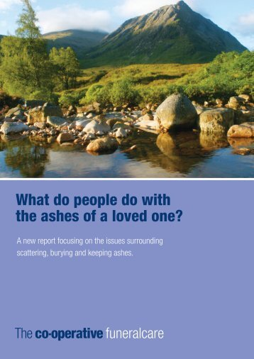 What do people do with the ashes of a loved one? - The Co-operative