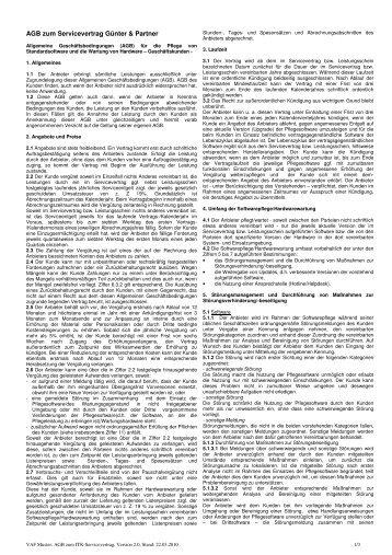 Servicevertrag agb v2.0