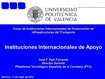 Instituciones Internacionales de Apoyo - Plataforma Tecnológica ...