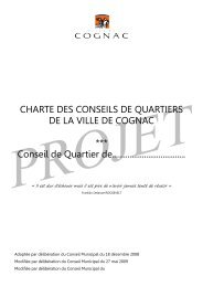 Projet de charte des Conseils de Quartiers - Ville de Cognac