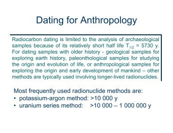 dating anthropology