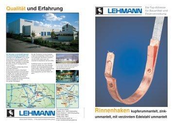 Rinnenhaken - Otto Lehmann GmbH