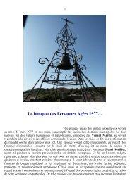 Le banquet des Personnes Agées 1977… - Ville de Beaumont-lès ...
