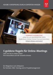 5 goldene Regeln für Online-Meetings - Adobe Connect - reflact AG