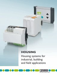 HOUSING Housing systems for industrial ... - Phoenix Contact