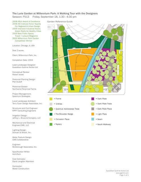 The Lurie Garden At Millennium Park A Walking