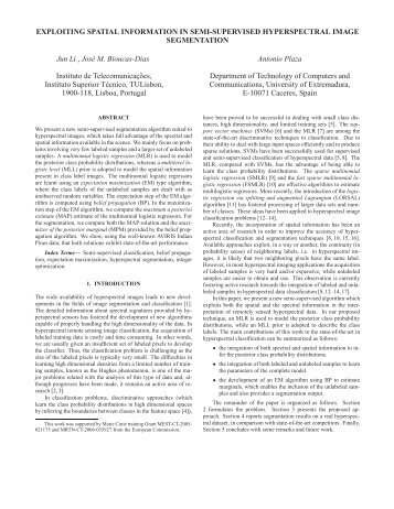 EXPLOITING SPATIAL INFORMATION IN SEMI-SUPERVISED ...